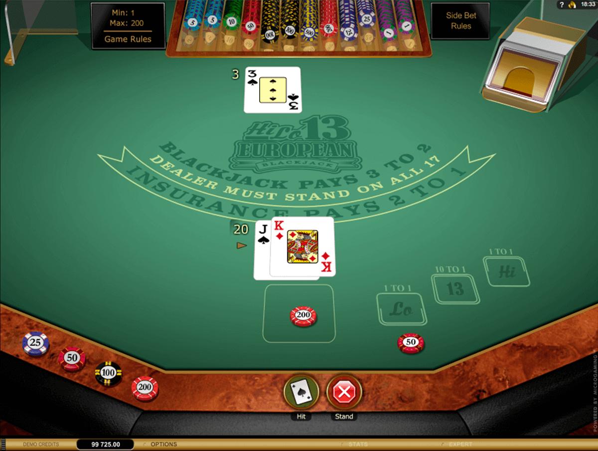 Hi Lo European Blackjack Gold Series
